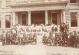 African American Members of Grand Lodge No. Eight, United Order of Odd Fellows, in Front of Court House in St. Charles, Missouri