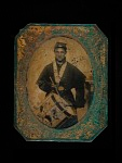 Tintype of a Union drummer boy