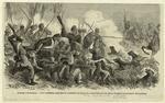 Guerre d'Amérique--les confédérés employant a combattre les régiments nègres fédéraux les chiens dressés à la poursuite des esclaves