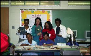 Women Presenting Books with Gates Elementary Students San Antonio Chapter of Links Records