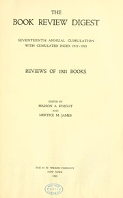 Thumbnail for Book review digest, 1921 v.17