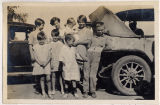 Missionary children preparing to leave for school, Haizhou, China, 1929
