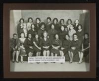 Early Black and White Picture of Wilson Members Of Delta Sigma Theta Sorority, Inc.