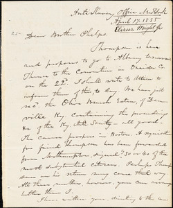 Letter from Elizur Wright, New York, to Amos Augustus Phelps, 1835 April 17