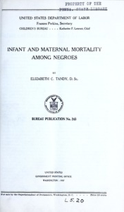 Infant and maternal mortality among Negroes, by Elizabeth C. Tandy...