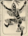 Costume design drawing, witch doctor, Las Vegas, June 5, 1980
