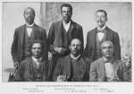 Mayor and councilmen of Hobson City, Ala., Young Pyles, Jesse Cunningham, Edw. Pearce, Peter Doyle, S. L. Davis, Mayor, C. C. Snow