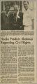 """Hooks Predicts Shakeup Regarding Civil Rights"""