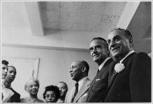[The Little Rock Nine with Daisy Bates, Earl Brown, Governor Averell Harriman, and Jay Rubin, New York, NY, 1958]