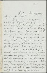 Letter from William Lloyd Garrison, Roxbury, [Mass.], to Wendell Phillips Garrison, Dec. 27, 1869