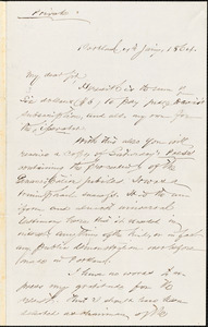 Letter from Charles Augustus Stackpole, Portland, [Maine], to William Lloyd Garrison, 1864 Jan[uar]y 4th
