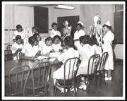 Nursing students in classroom at Homer G. Phillips School of Nursing.