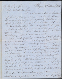Letter from Andrew Paton, Glasgow, [Scotland], to William Lloyd Garrison, 7th March 1851