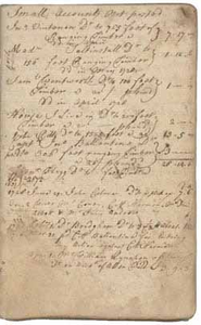 Hugh Hall account book, 1728-1733