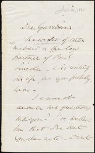 Letter from Wendell Phillips, to William Lloyd Garrison, June 30 [1865]
