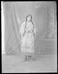 Assiniboin girl, Sara Mitchell, 15 years. 1/2 Assiniboin and Sioux, Fort Peck, Mont. Indian School. 1904
