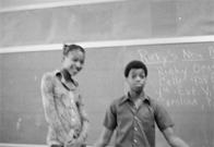 Sheila and Darryl at Junior High School 149, 1976