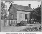 A Negro-owned home in one of the suburban settlements