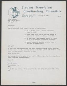 SNCC letter to Holsaert, 1963