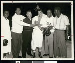 Boxers pose after a match, Los Angeles, ca. 1951-1960