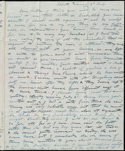 Letter from Mary Weston to Deborah Weston, Sab[b]ath Evening, 3'd July [1842]