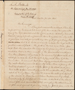 Letter from Amos Augustus Phelps, East Boston, to Hiram Cummings, Jan. 26. 1843