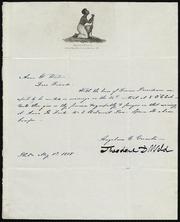 Letter to] Anna W. Weston [manuscript