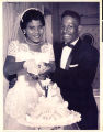 Photograph of Mr. And Mrs. Q. B. Bush's wedding reception at the New Town Tavern, 1957