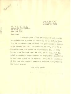 Letter from Mary B. Jones to W. E. B. Du Bois