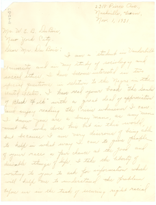 Letter from E. E. Watson to W. E. B. Du Bois