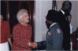 Clara Adams-Ender with Barbara Bush, 1991