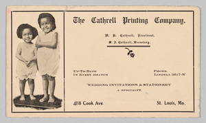 Advertisement for the Cathrell Printing Company