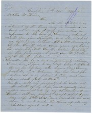 Letter signed W. Strickland, Brooklyn, Ga., to Thomas W. Thomas, November 8, 1836