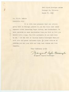 Letter from Margaret Taylor Burroughs to W. E. B. Du Bois