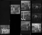 Set of negatives by Clinton Wright including debutant career conference at Zion, Chorus' visit to LA, and Elder Stallworth's Revival, 1970