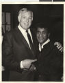 Photograph of Jack Entratter and Sammy Davis, Jr.