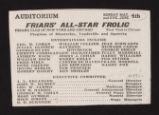 Auditorium Theatre, Friar's all-star frolic (June 4, 1911) Friar's all-star frolic