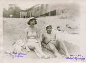 27. Rosie and Merle McCurdy at the Idlewild Club House in Idlewild, Michigan