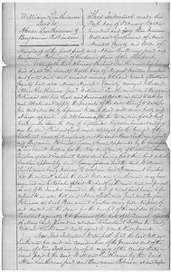Benjamin Robenson's Original Fugitive Slave Petition and Ownership Documentation: Deed