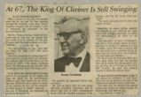 """""""At 67, The King Of Clarinet Is Still Swinging"""""""