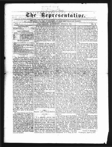 The Representative. (Galveston, Tex.), Vol. 1, No. 8, Ed. 1 Saturday, July 8, 1871 The Representative