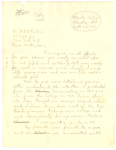 Letter from David H. Heydenburk to W. E. B. Du Bois