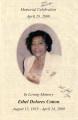 Program for the Memorial Celebration in Loving Memory of Ethel Dolores Cotton, August 15, 1935 - April 24, 2009, April 29, 2009