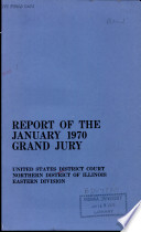Report of the January 1970 Grand Jury