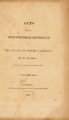 Acts passed by the General Assembly of the State of North Carolina [1823] Laws of the State of North-Carolina.