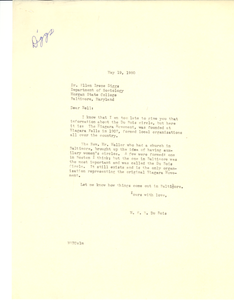 Letter from W. E. B. Du Bois to Ellen Irene Diggs