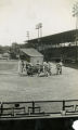 Mud Hen players warm up before a baseball game