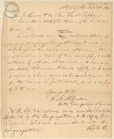 Letter from R.M. Chissenden to Joshua Leavitt or Lewis Tappan