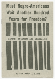 Must Negro-Americans Wait Another Hundred Years for Freedom?: Against Tokenism and Gradualism