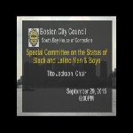 Special Committee on the Status of Black and Latino Men and Boys recording, September 29, 2015